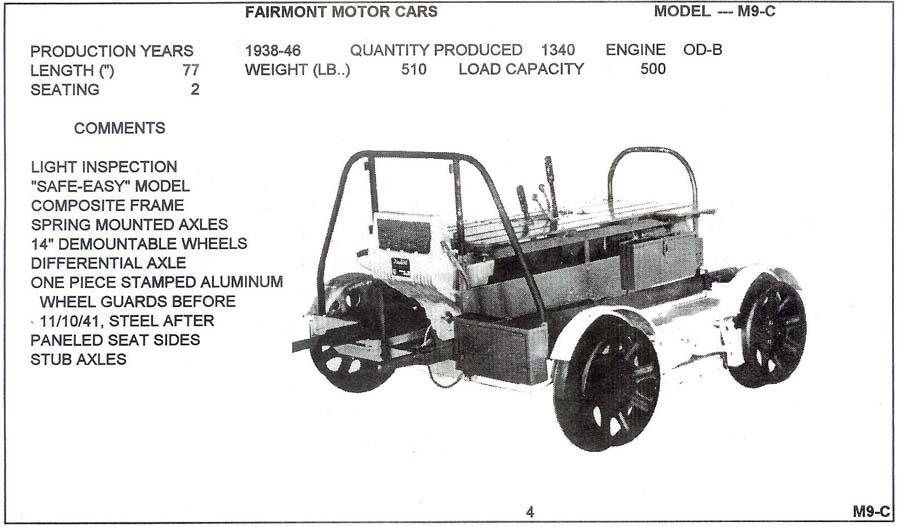 Fairmont M9 Summary Sheet